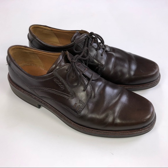 8ba17a484048f Ecco Shoes | Mens Extra Width Brown Leather Oxfords S48 | Poshmark